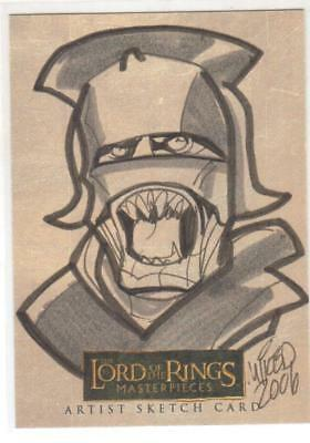 LORD OF THE RINGS MASTERPIECES ARTIST SKETCH CARD by MICHAEL LOCODUCK DURON