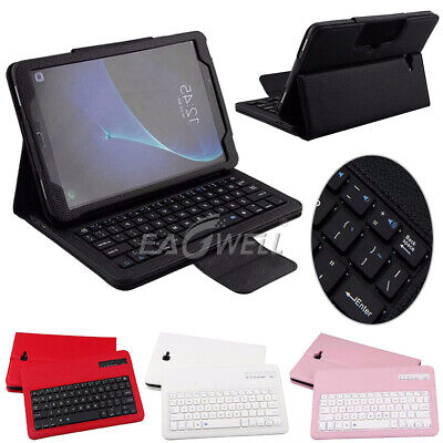 For Samsung Galaxy Tab a 8.0 2017 Tablet Bluetooth Keyboard +Leather Case Cover