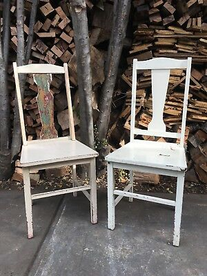 2 Lovely Vintage Barn Chairs