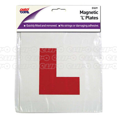 Autocare Pair Of Magnetic L Plates Learner Driver Driving School