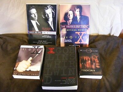 Lot of 5 X Files Books, Goblins-Whirlwind,Official Guide,3rd Season Guide,2 more