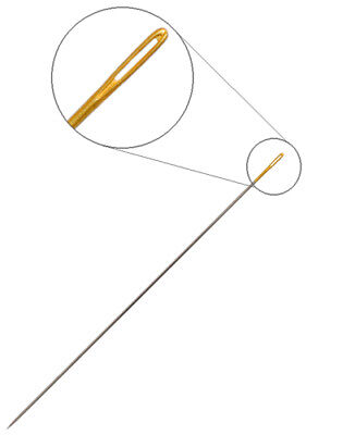 Dazzle-It Gold Eye Beading Needles Size 10 - Pack of 7 - Ideal for Sead Beads
