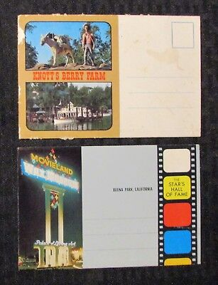 Vintage WAX MUSEUM & KNOTT'S BERRY FARM Souvenir Fold Out LOT of 2 FN+/FVF