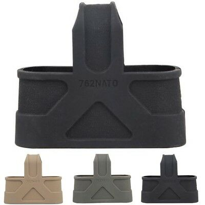 1PC Tactical 7.62 Rubber Magazine Cage Loops Mag Assist Black/Tan/Green Airsoft