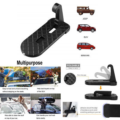 Car Doorstep Vehicle Folding Ladder Foot Pegs with Safety Hammer Easy to Rooftop