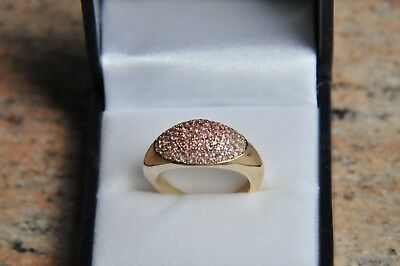 Ring Goldring pink Turmalin 585 Gelbgold Sogni d`oro Facettenreich 17/54