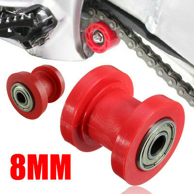 8mm Rot Pulley Spanner Kettenrolle Für Dirt Pit Bike ATV Motocross Motorcycle
