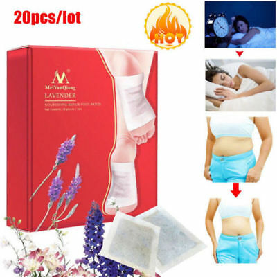 20pcs/lot Lavender Detox Foot Patches Pads Nourishing Repair Foot Patch  HE