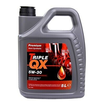 Triple QX Premium SAE 5W30 Part Semi Synthetic Engine Oil 5L Ford Spec 5 Litre