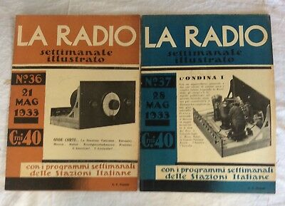 lotto 2 La Radio settimanale illustrato n 36-37 1933