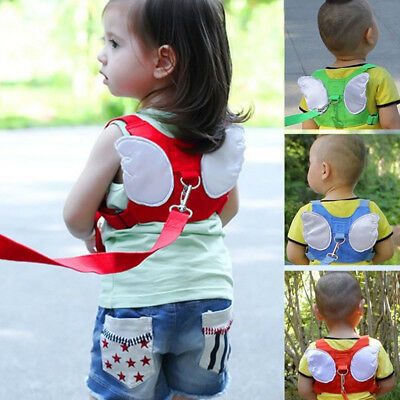 Toddler Baby Kids Angel Wings Safety Harness Belt Anti-lost Walking Strap Leash