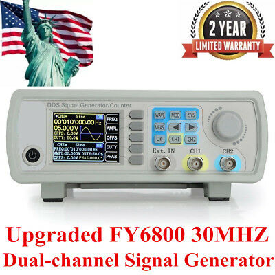 Upgraded FY6800 30MHZ Dual-channel Arbitrary Waveform Source Signal Generator US