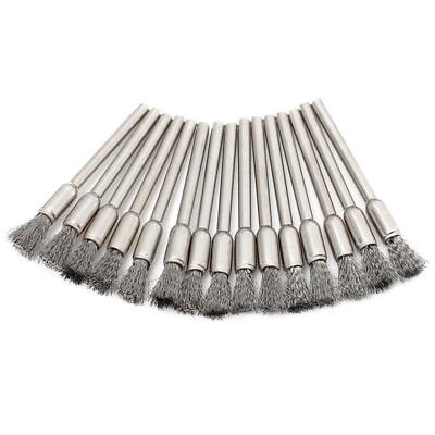10PC 3mm Stainless Steel Mini Wire Wheel Brush Cup Shank Dremel Rotary Home Tool