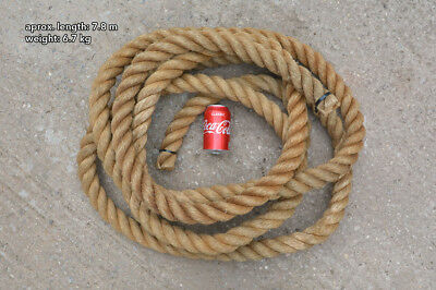 old vintage ships rope - 7.8 m / 25.6 ft -  FREE DELIVERY