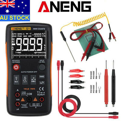 AU Store ANENG Q1 True-RMS Digital Multimeter Button 9999 Counts with Analog Bar