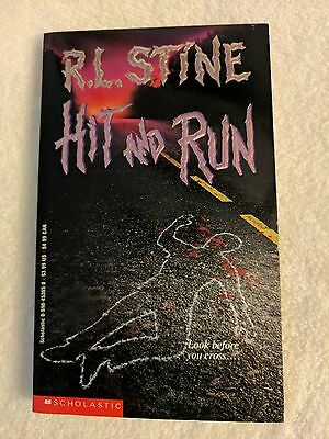 Hit and Run by R. L. Stine, Scholastic Paperback, First Printing June 1992