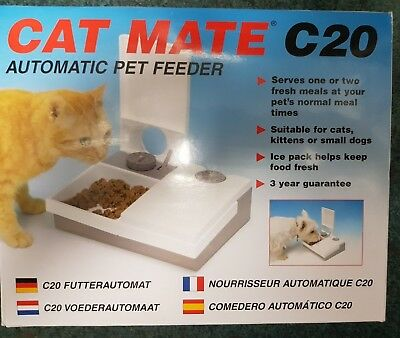 Cat Mate C20 Automatic 2 Meal Feeder with Ice Pack - BRAND NEW