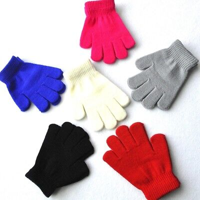 Kids Magic Gloves& Mittens Kid Stretchy Knitted Winter Warm Gloves for Girl Boy!