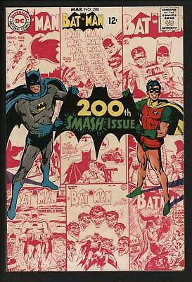 Batman #200 Wow! Vfn+ Glossy Cents With At Great Neal Adams Cover. Vs Scarecrow