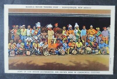 1940s Albuquerque New Mexico Indian Silversmiths Maisel's Trading Post Postcard