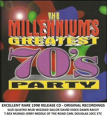 Best Greatest 70s Party Hits CD Mud Wizzard David Essex T Rex Suzi Quatro Racey