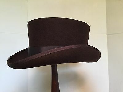 Regency Style Dress Hat In Gray, Brown Or Black Made In USA