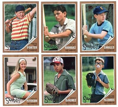 The SANDLOT 2018 Topps Archives Complete Baseball Card Set Kilin me Smalls Movie