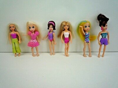 Polly Pocket Bundle Of 6 Assorted Polly Pocket Mini Figures