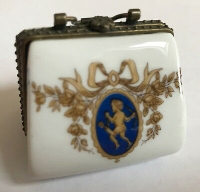 Limoges France VINTAGE ceramic porcelain purse boxes