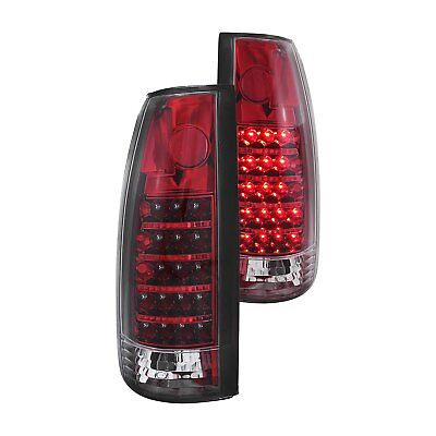 For Cadillac Escalade 1999-2000 Anzo 311079 Chrome/Red G2 LED Tail Lights