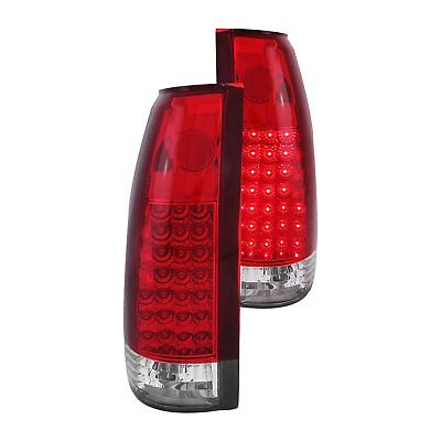 For Cadillac Escalade 1999-2000 Anzo 311004 Chrome/Red G2 LED Tail Lights