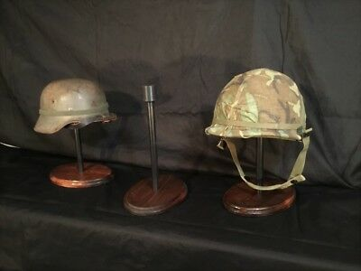 HELMET STAND-Military WWI,WWII,Vietnam OWC-JR-1. Classic Old World look.