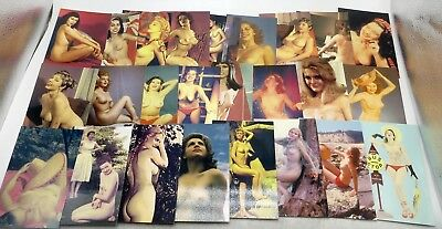 Vintage Lot of 25 Nude Pinup Model Postcards Risque - Unused (Lot E)