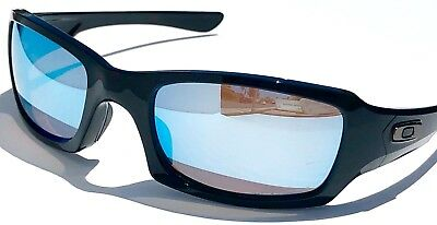 ea8a82f0bb781 NEW  Oakley FIVES Squared Black POLARIZED Deep Water PRIZM Sunglass oo9238- 18