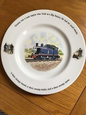 Thomas the tank engine: Wedgwood plate from 1984