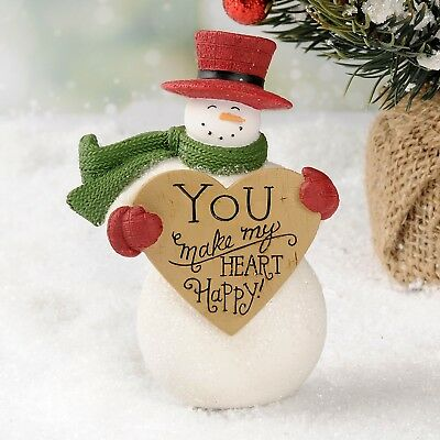 NEW Blossom Bucket SNOWMAN WITH HEART By Deb Strain