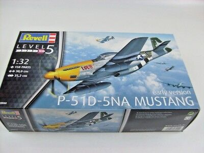 Revell 1:32 P-51 D-5NA Mustang Early Version + Eduard 33186 Photo Etched 03944