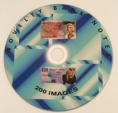 200 Novelty Bank Note Cd Images Backgrounds Celebrity Decoupage Movies Celebrity