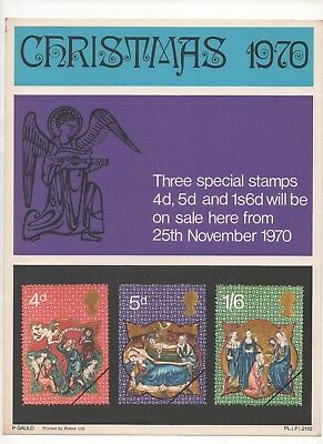 1970 Post Office A4 Poster Grille Card - Christmas