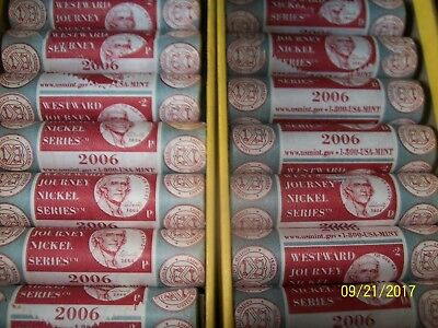lot of 44 rolls U.S mint wrapped 2006 nickels mint wrapper  22-p and 22-d