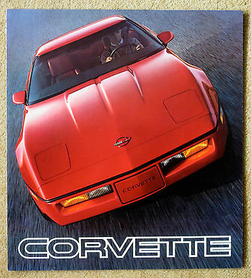 Chevrolet Corvette sales brochure 1985