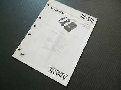 Vintage Sony Dc-210 Car Battery Charger Service Manual