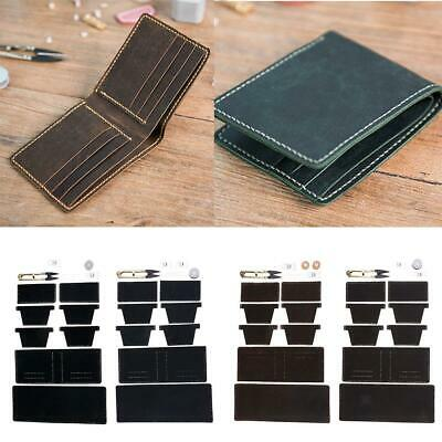 DIY Leather 6 Pockets Wallet Kit Purse Bifold Kit Make Your Own Leather Wallet
