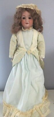 """Antique German Armand Marseille 21"""" Baby Betty Bisque Head Leather Body Doll"""