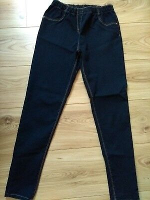 Girls dark denim jeggings age 12/13 years from George outer leg length 35 inches