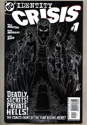 Identity Crisis #1-2004 vf- Inverted Black and White Sketch Variant Cover