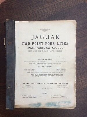 Jaguar 2.4 litre spare parts catalogue