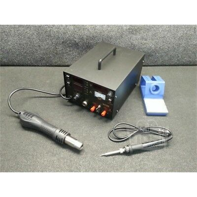 3-in-1 SMD Rework Soldering Station with Hot Air Gun and Iron, 853D