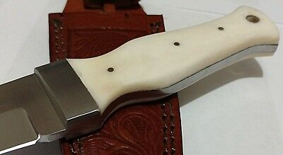 White Bone Dagger Hunting Bowie Knife W/ Sheath Case Unbranded Boot Knife !!!
