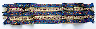 Antique 19th century woven silk scarf  from France